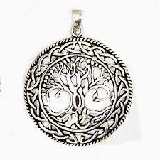 celtic tree of amulet talisman detailed knot work pendant