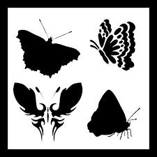 auto vynamics stencil butterflyset01 10 detailed butterflies