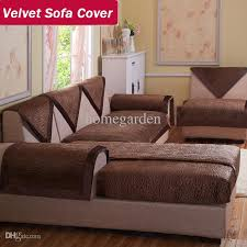 Velvet Sofa For Sale by Wholesale Velvet Fabric Sofa Brown Decorative Sofas Covers Double