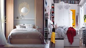 Beautiful White Wood Glass Cool Design Ikea Small Bedroom Ideas - Bedroom decorating ideas ikea