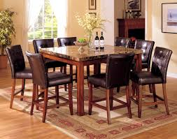 High Top Dining Room Tables Bedroom Breathtaking Black Granite Dining Table For High End And