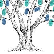 tree guest book beech wedding fingerprint tree guest book by new forest print