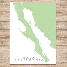 California Maps Baja California Map Print Mexico Colors U2013 Maps As Art