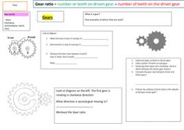gcse 1 9 physics gears by bushrahayat teaching resources tes