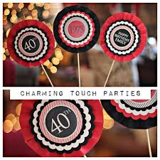 40th birthday decorations 40th birthday party centerpiece party decoration decor