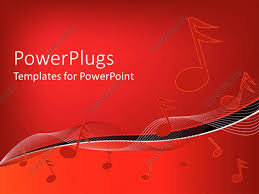 templates powerpoint crystalgraphics powerpoint template musical notes on wavy lines on gradient red