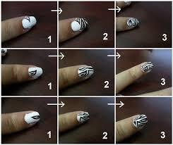 zebra pattern nail art zebra stripe nail art how to paint an animal print nail beauty
