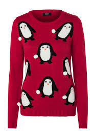 clothing at tesco f u0026f penguin snowball bobble christmas jumper