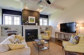 Black Accent Chairs For Living Room Yellow Accent Chair Living Room Contemporary With Analogous Color