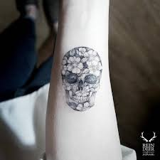47 flower skull 68 dainty and feminine tattoos