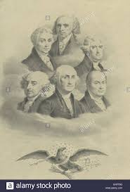 presidents of the united states first six presidents of the united states of america in stock