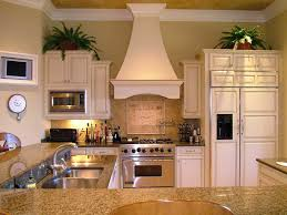 farmhouse kitchen ideas with antique white ductless quiet hood and