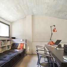 apartment small attic bedroom barcelona apartment by gca small attic bedroom barcelona apartment by gca architects design decoration using light grey wood shelf bed frame including silver metal vintage bedroom