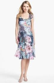 komarov ruffled print chiffon dress available at nordstrom mob