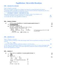 equilibrium exam questions with solutions 1