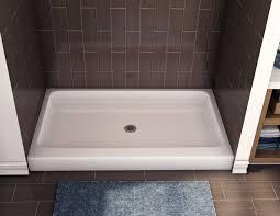 Bathroom Shower Pans Bathroom Corian Shower Pan Base Chic Framless Shower Glass Door