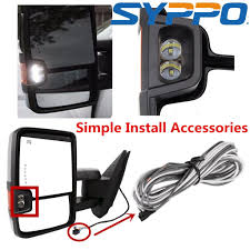 paint to match for 07 13 silverado gmc power heated towing mirrors