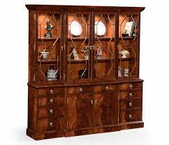 Break Front Cabinet Crotch Mahogany Bookcase Breakfront Elegant Style