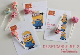 despicable me 2 valentines free printable