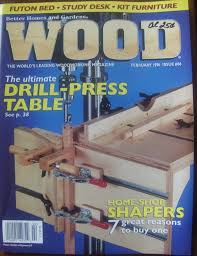 vintage wood magazine february 1996 drill press table discover