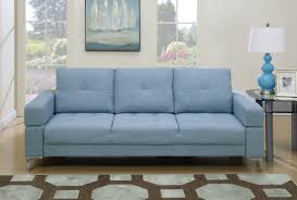 ace trading sofa mattress warehouse f6829 blue convertible sofa bed by poundex