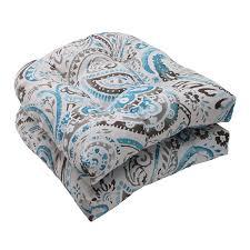 amazon com pillow perfect indoor outdoor paisley wicker seat