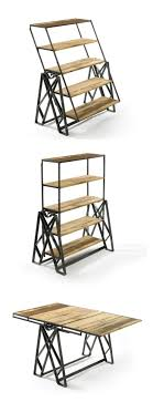 table converts to shelf reclaimed wood convertible shelf table only what s the point of