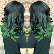 ambre hair black to emerald and neon green ombre hair hair colors ideas