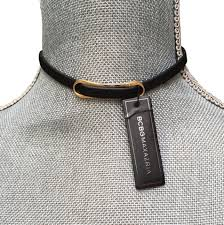 leather choker necklace images Bcbgmaxazria black leather choker necklace tradesy jpg