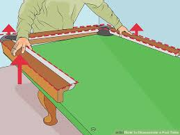 How To Refelt A Pool Table How To Disassemble A Pool Table 11 Steps With Pictures