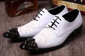 chaussures homme mariage grand protecteur en métal blanc de mariage chaussures homme en