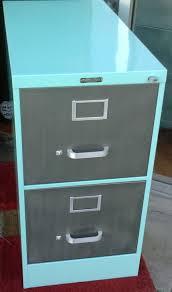 Teal File Cabinet Vintage Steel Vertical File Cabinet