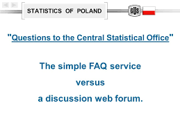 central statistical bureau statistics of poland questions to the central statistical office