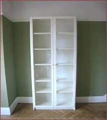 Billy Bookcase With Doors Ikea Bookshelf With Doors Thespokesman Me