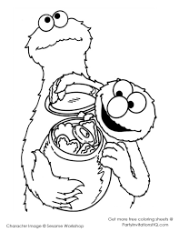 fancy cookie monster coloring page 24 for coloring pages for kids