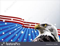Eagle American Flag Illustration Of Bald Eagle American Flag