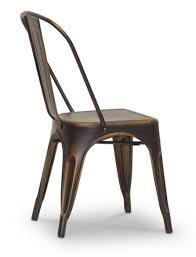 Copper Bistro Chair Talix French Industrial Bistro Chair In Antiqued Copper