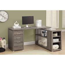 L Shape Corner Desk by Corner Desk Dark Taupe Desks U0026 Workstations Best Buy Canada