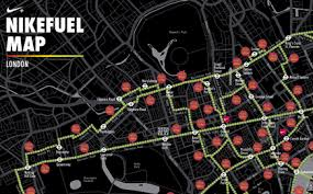 nike map nike encourages londoners to explore the city on with the