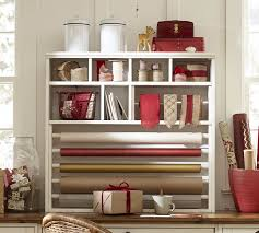 wrapping paper station wrapping paper hutch pottery barn