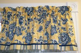 Yellow Valance Curtains Terrific Toile Valance Curtain 54 Toile Valance Curtains Yellow Blue Floral Home Jpg