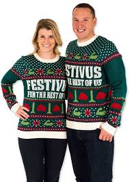 festified men u0027s festivus for the rest of us ugly christmas sweater