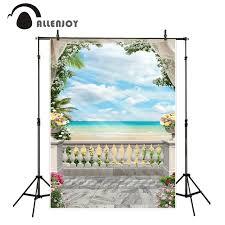wedding backdrop background aliexpress buy allenjoy scenery photo sea