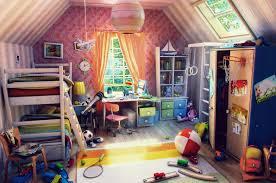 colorful room colorful kids bedroom render interior design ideas