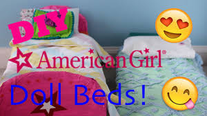 how to make american girl doll bed diy american girl doll bed youtube