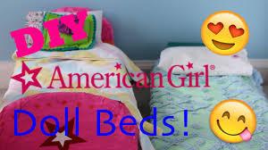 diy american doll bed youtube