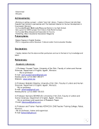 Resume In English Examples by Yassine Ait Hammou U0027s Cv New
