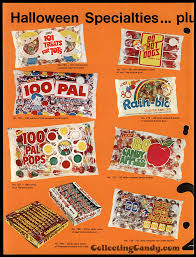 halloween kiss candy flashback with leaf u0027s 1973 halloween candy sales brochure