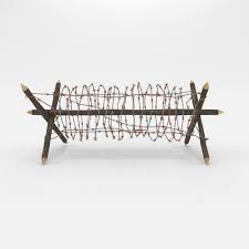 Obstacle Barb Wire Obstacle 3d Model Cgtrader