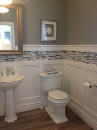 charming tile wainscoting bathroom images ideas tikspor